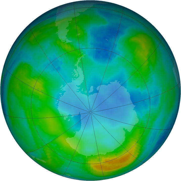 Antarctic ozone map for 17 May 1983