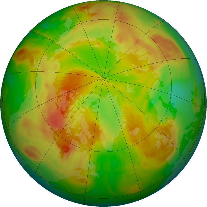 Arctic ozone map for 18 May 1983