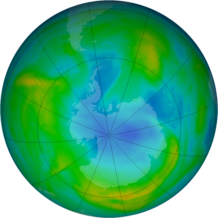 Antarctic ozone map for 21 May 1983