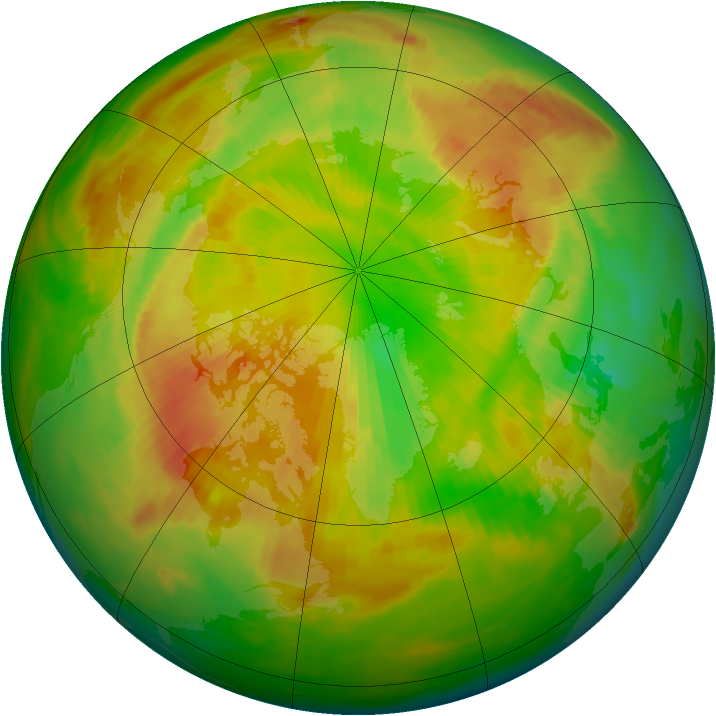 Arctic ozone map for 22 May 1983