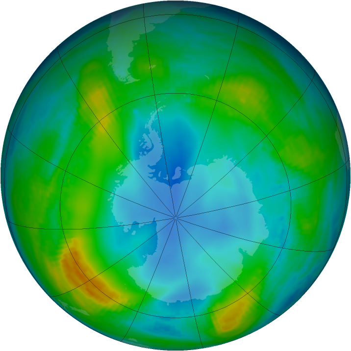 Antarctic ozone map for 26 May 1983
