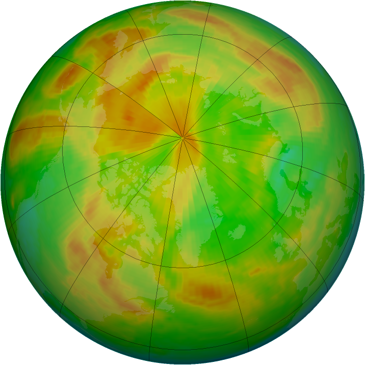 Arctic ozone map for 28 May 1983