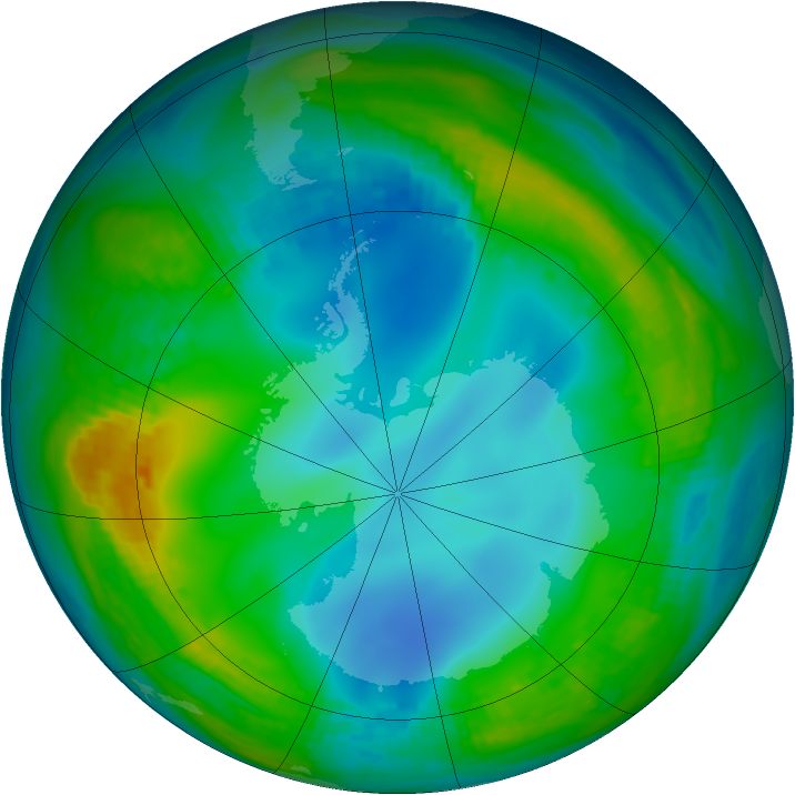 Antarctic ozone map for 30 May 1983