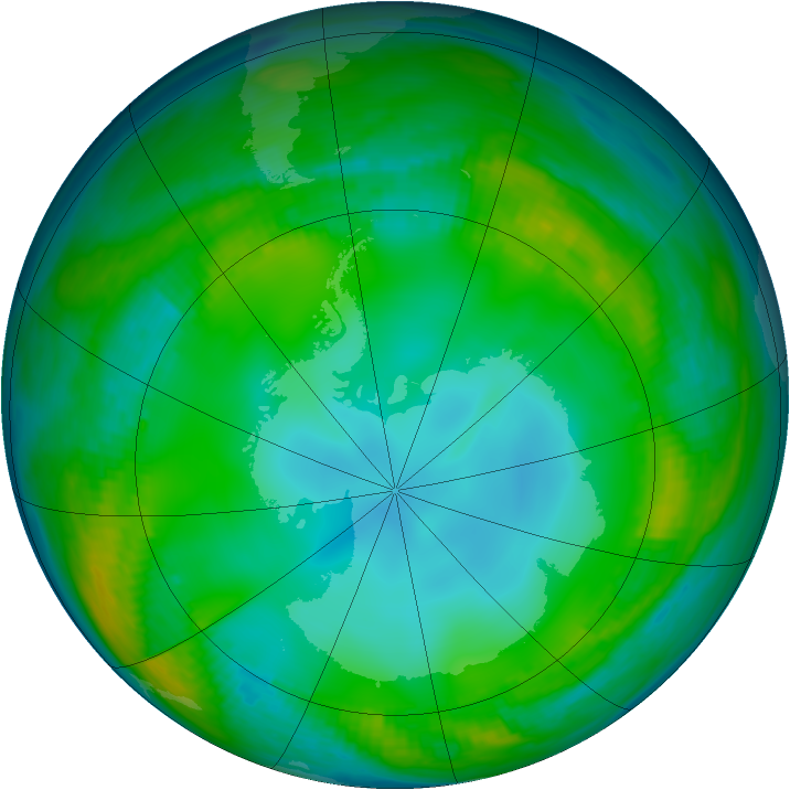 Antarctic ozone map for 02 June 1983