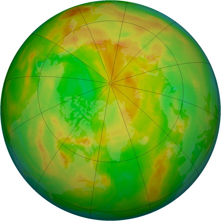 Arctic ozone map for 03 June 1983