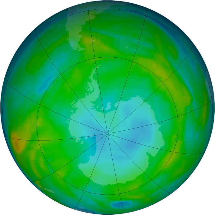 Antarctic ozone map for 03 June 1983