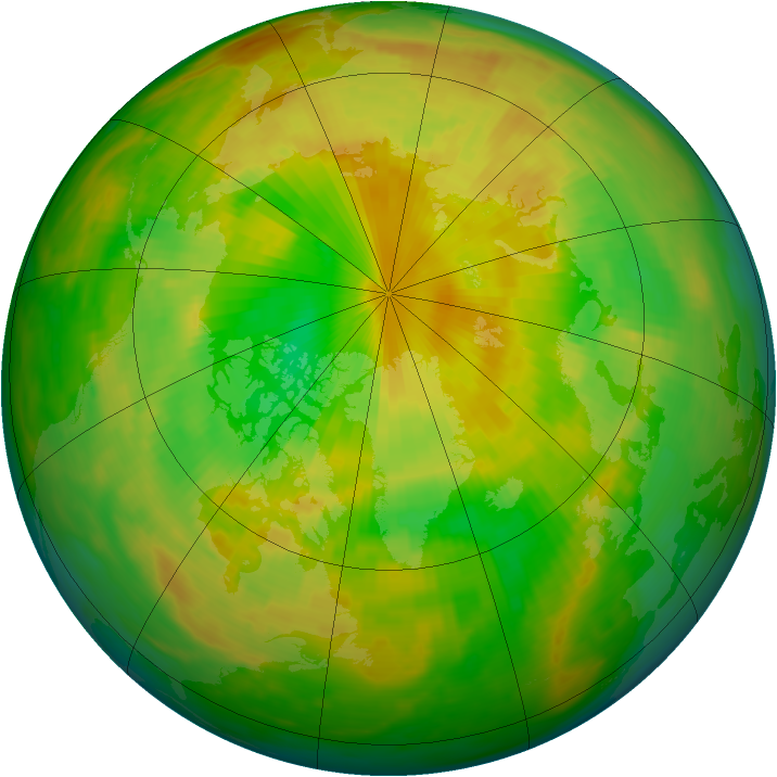 Arctic ozone map for 04 June 1983
