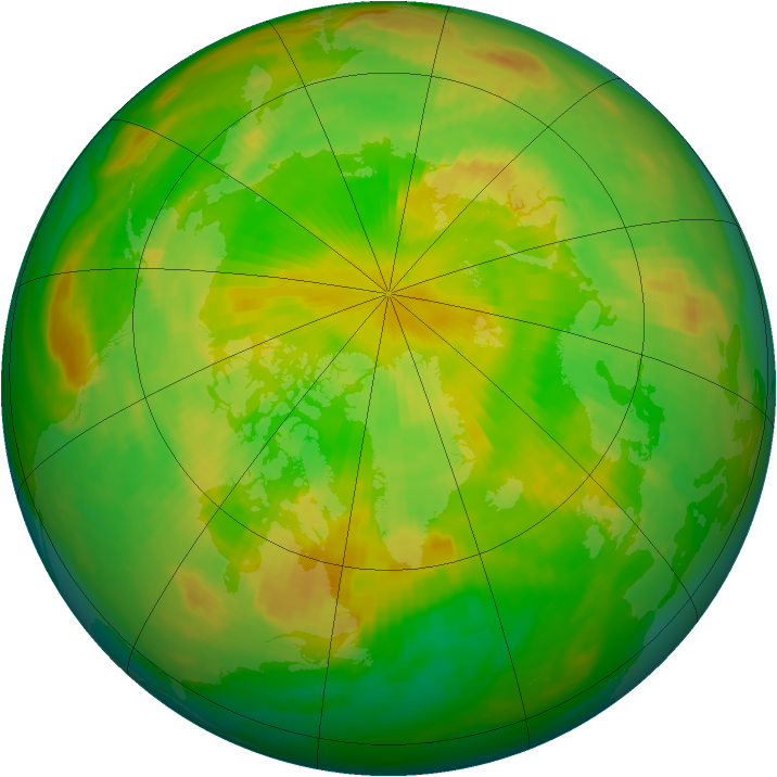 Arctic ozone map for 09 June 1983