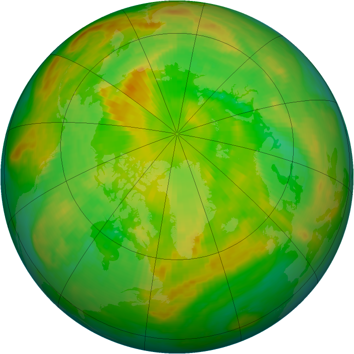 Arctic ozone map for 13 June 1983