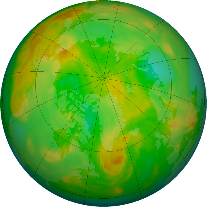 Arctic ozone map for 17 June 1983