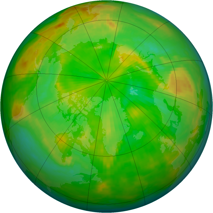 Arctic ozone map for 23 June 1983