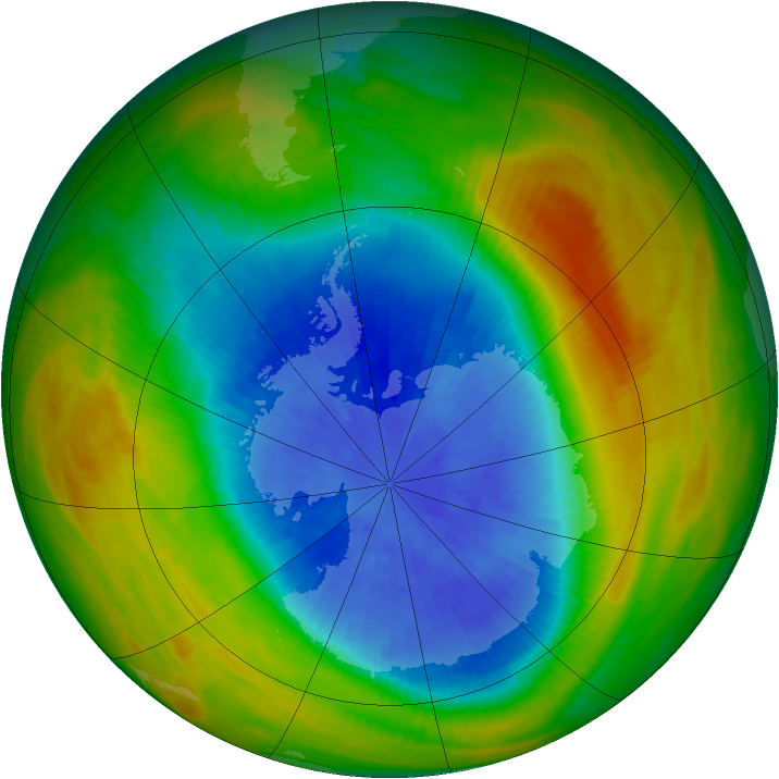 Antarctic ozone map for 26 September 1983