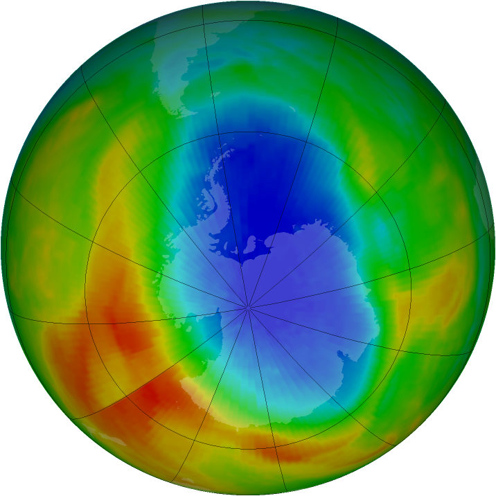 Antarctic ozone map for 04 October 1983