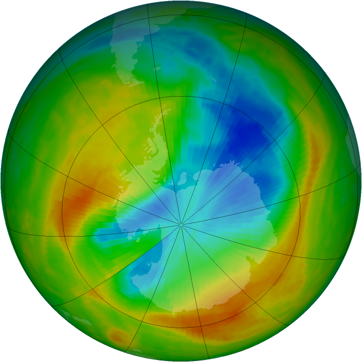 Antarctic ozone map for 04 November 1983