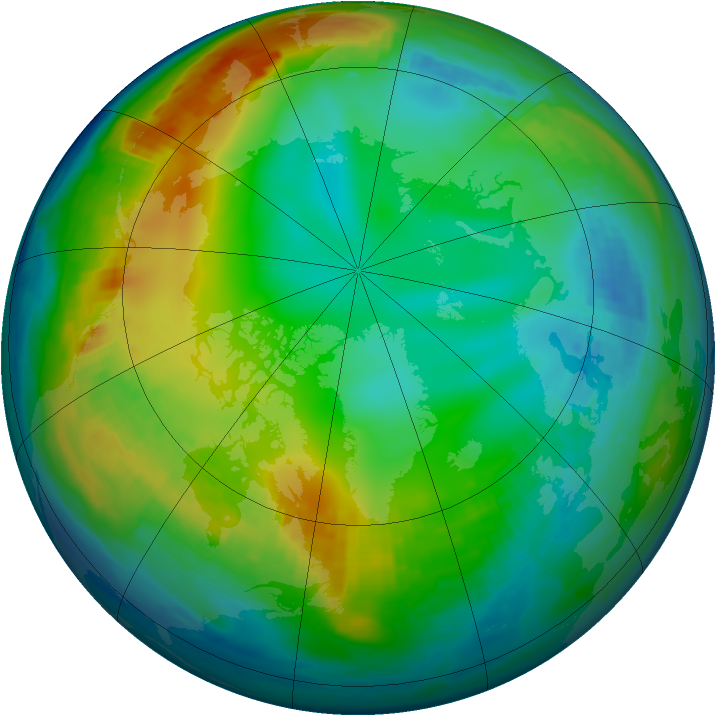 Arctic ozone map for 04 December 1983