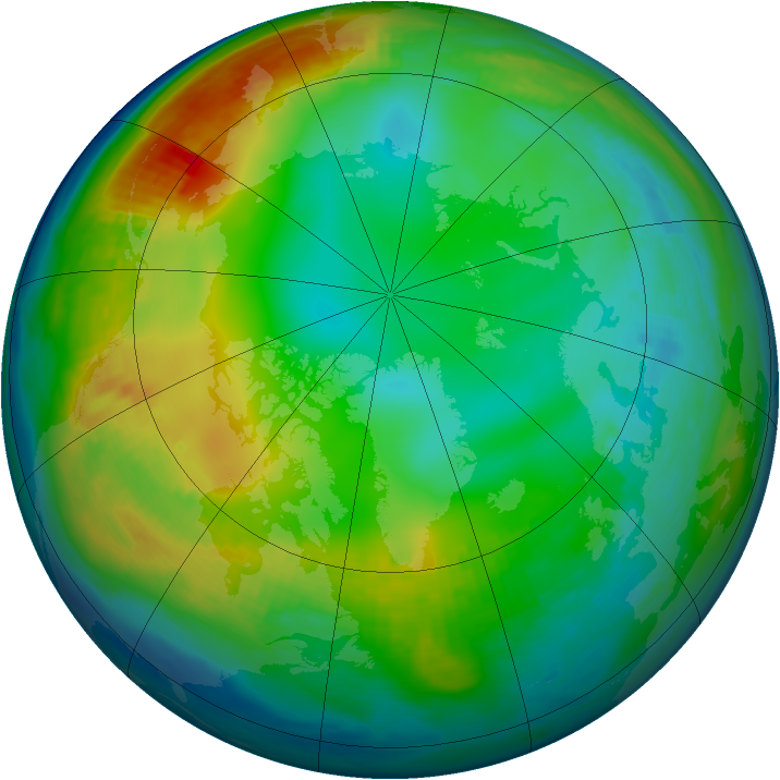 Arctic ozone map for 05 December 1983