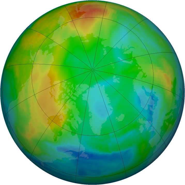 Arctic ozone map for 14 December 1983