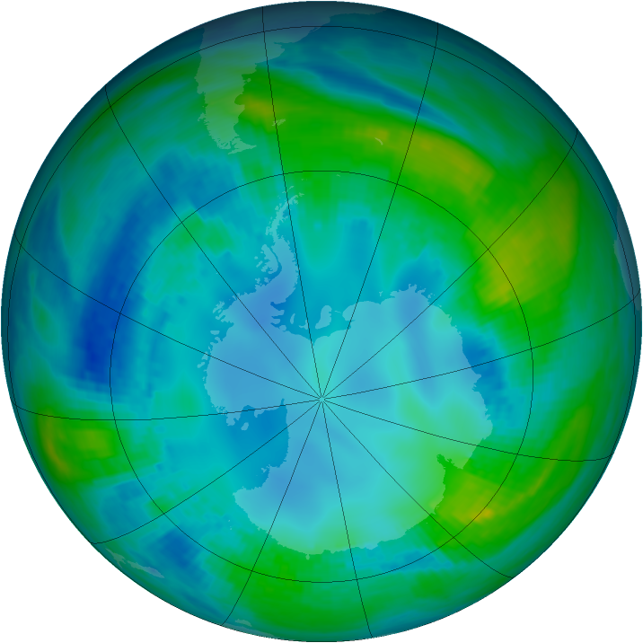 Antarctic ozone map for 04 May 1984