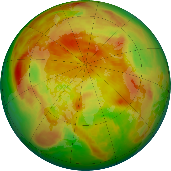 Arctic ozone map for 09 May 1984