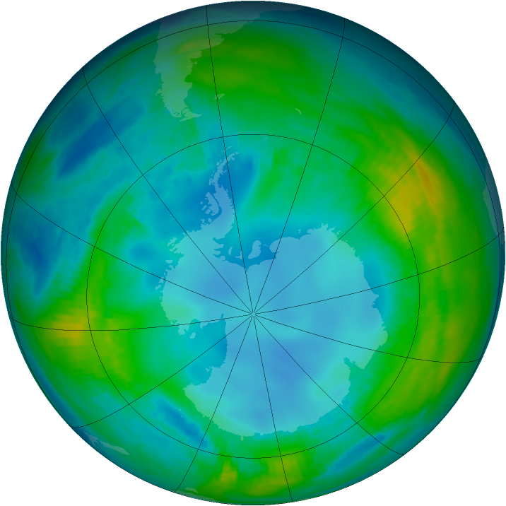 Antarctic ozone map for 11 May 1984