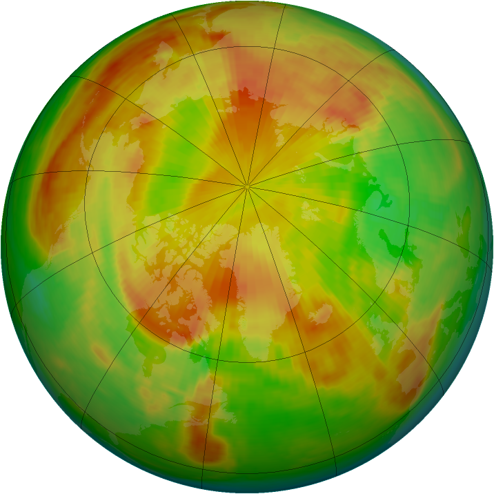 Arctic ozone map for 19 May 1984