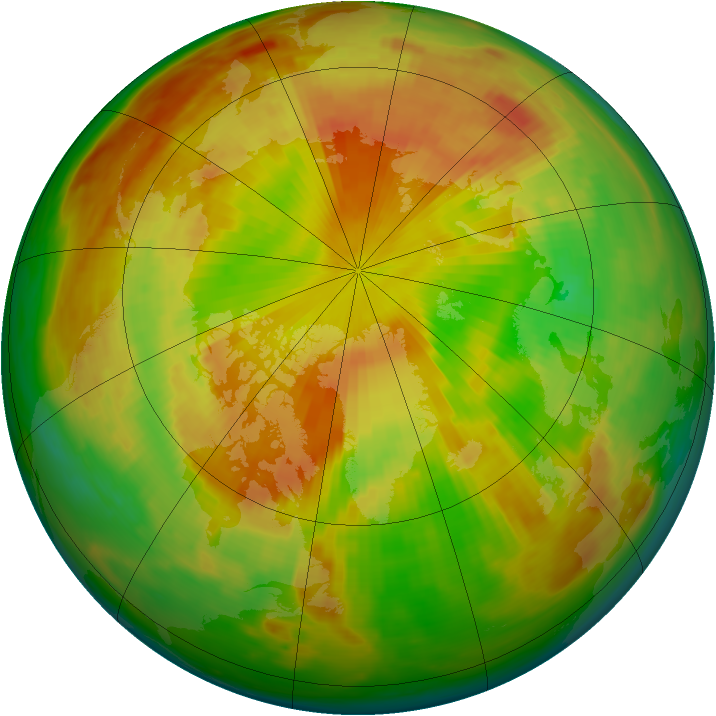 Arctic ozone map for 20 May 1984