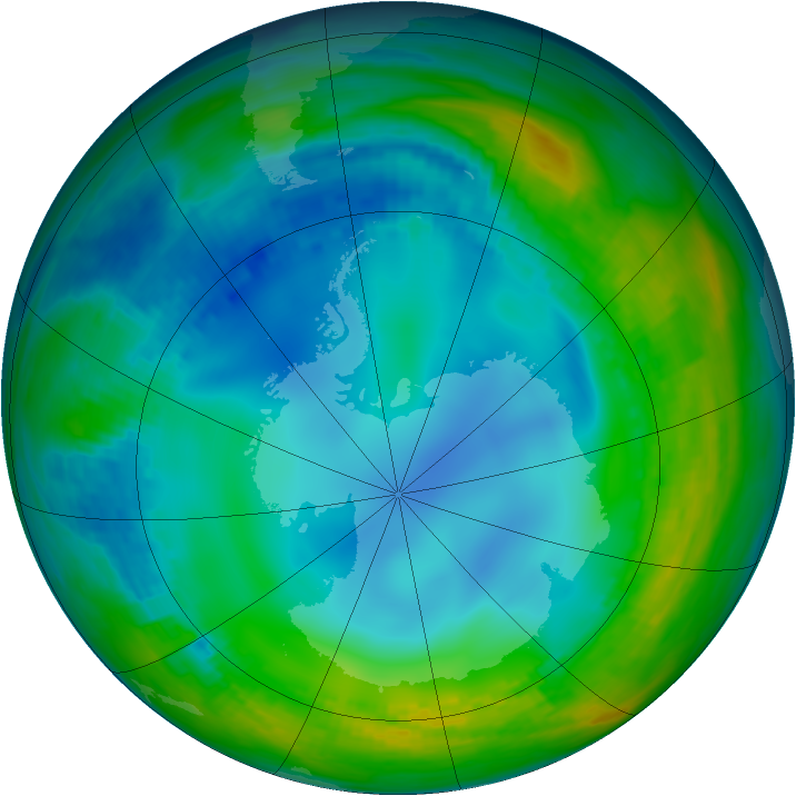 Antarctic ozone map for 26 May 1984