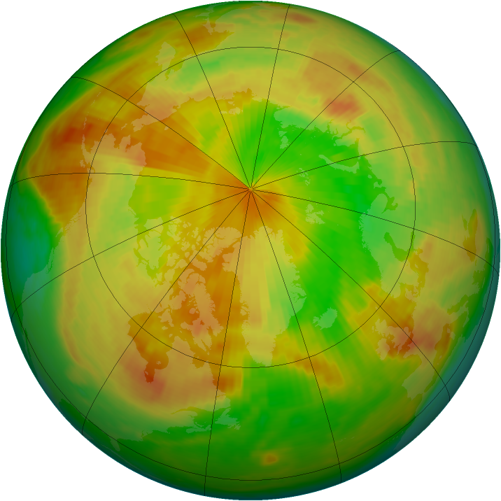 Arctic ozone map for 27 May 1984