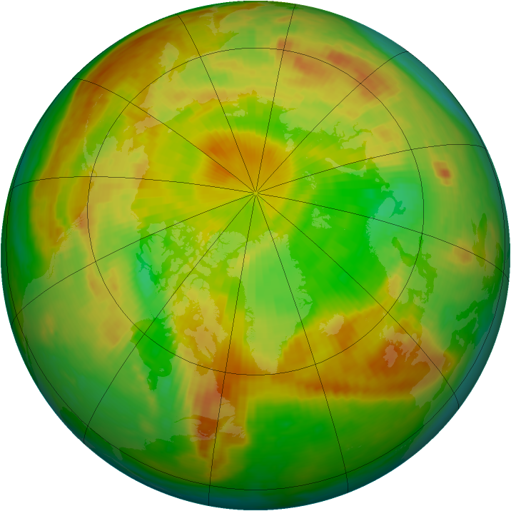 Arctic ozone map for 03 June 1984