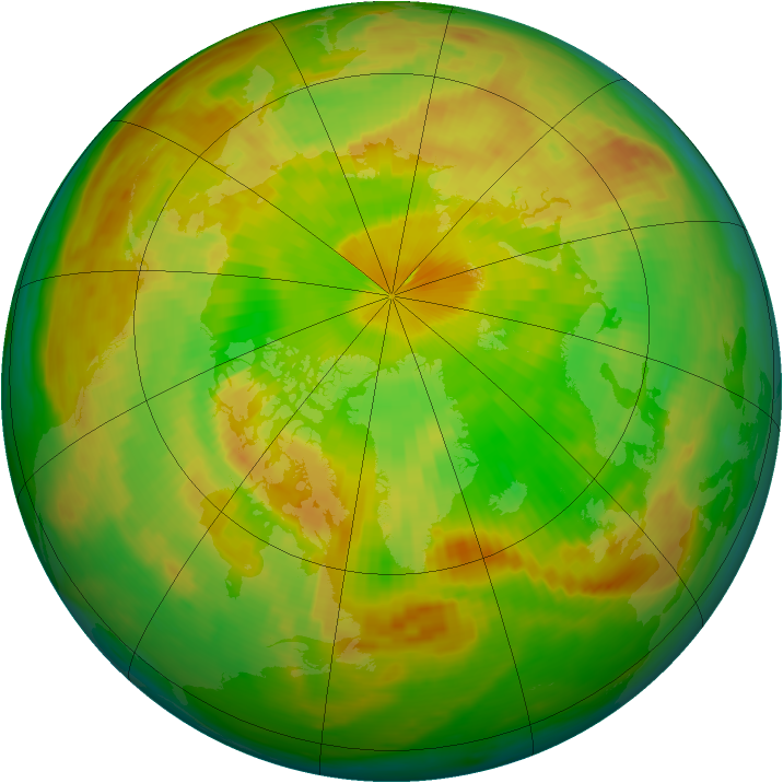 Arctic ozone map for 05 June 1984