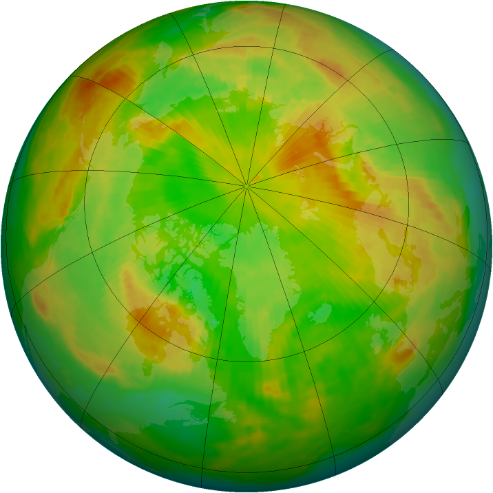 Arctic ozone map for 10 June 1984