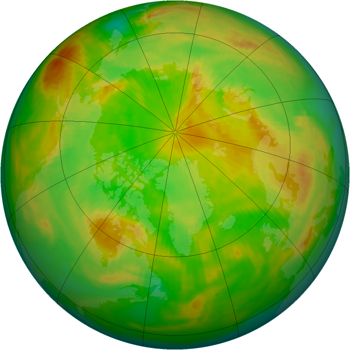 Arctic ozone map for 11 June 1984