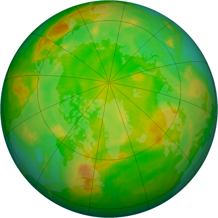 Arctic ozone map for 22 June 1984