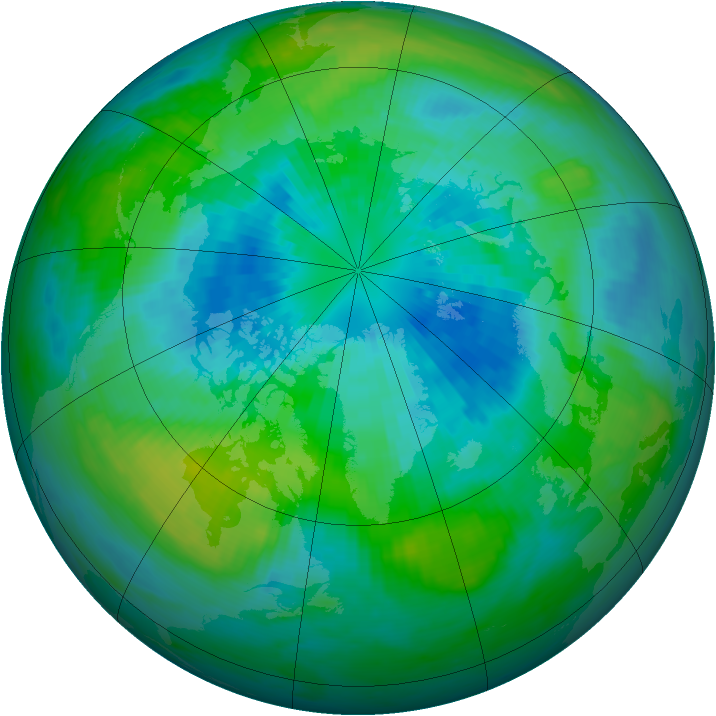 Arctic ozone map for 26 September 1984