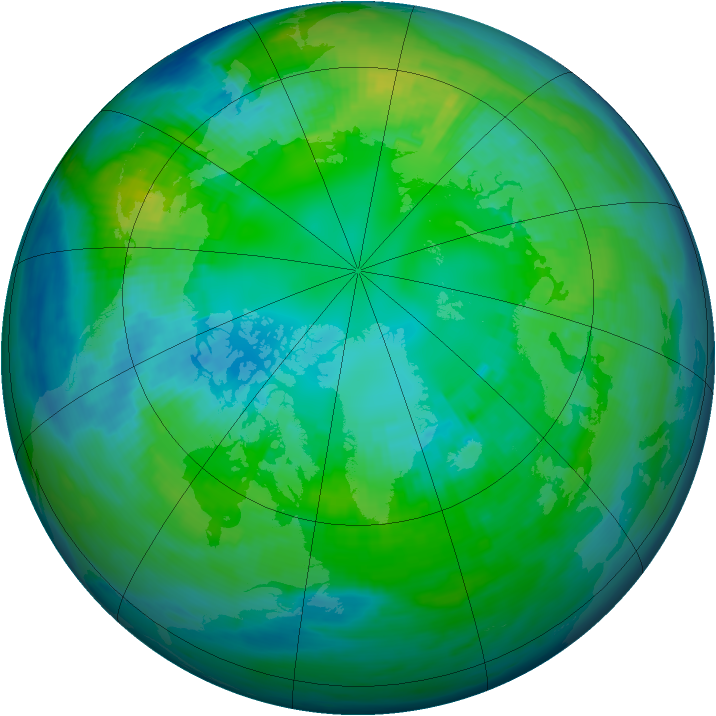 Arctic ozone map for 23 October 1984