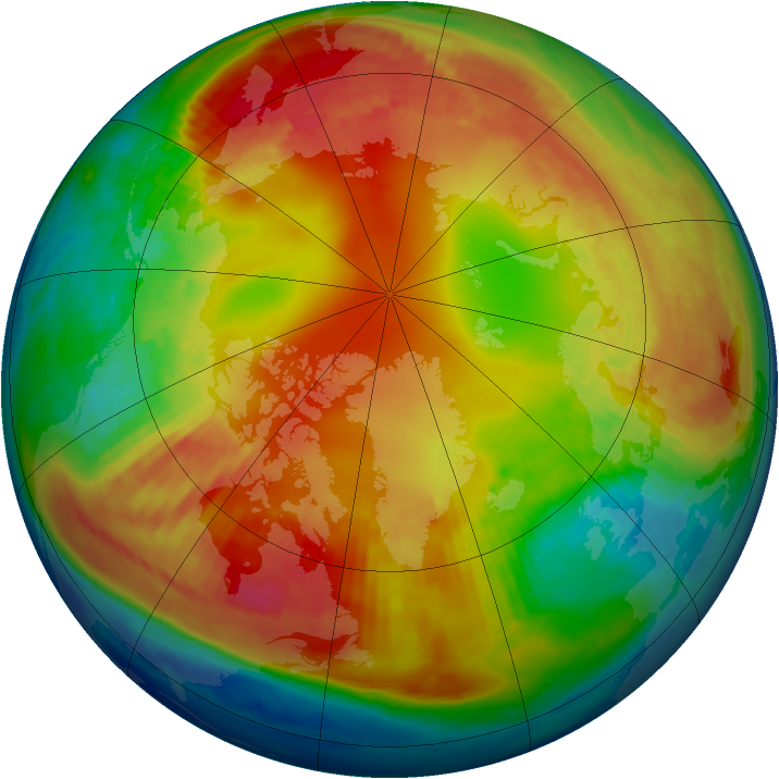 Arctic ozone map for 04 February 1985