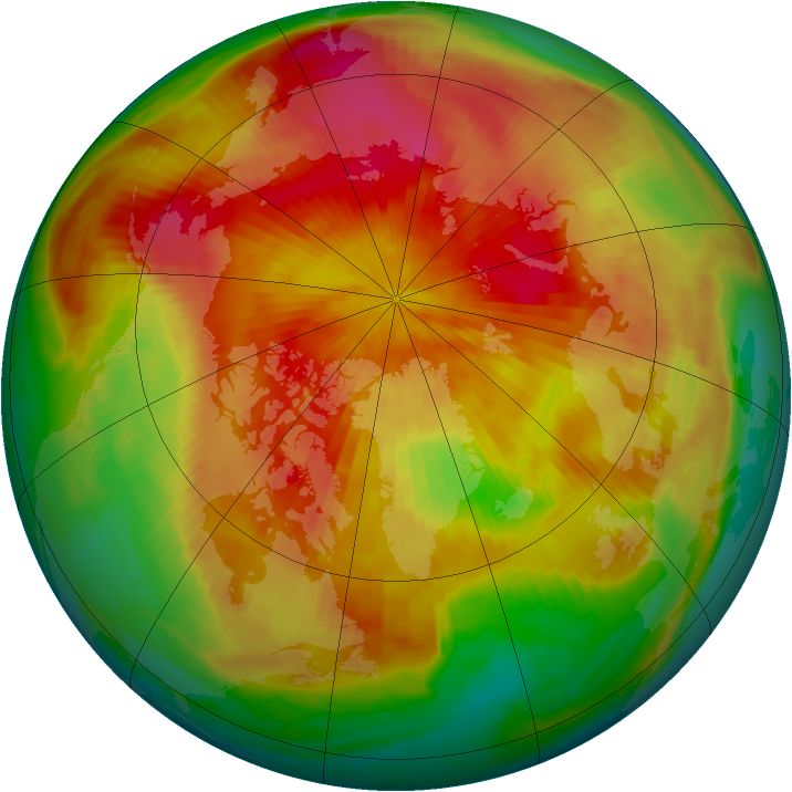 Arctic ozone map for 11 April 1985