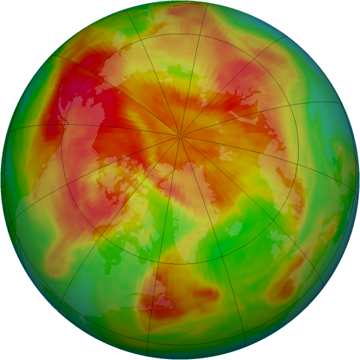 Arctic ozone map for 23 April 1985