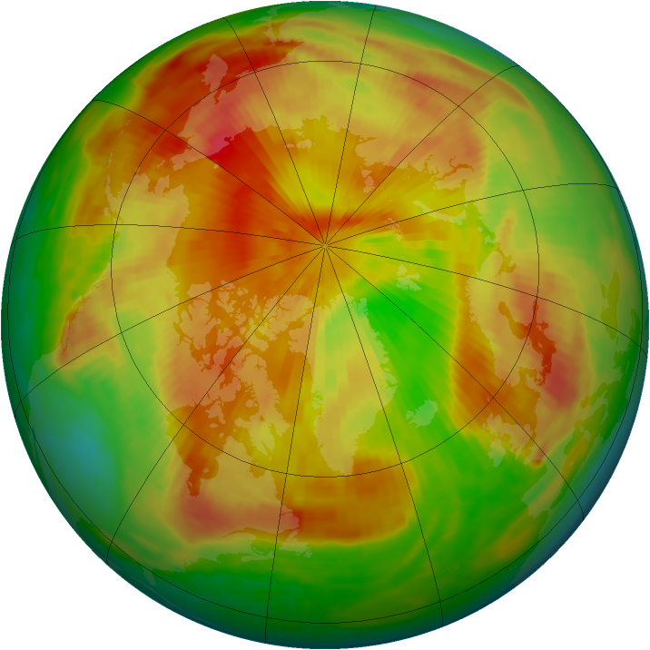 Arctic ozone map for 03 May 1985