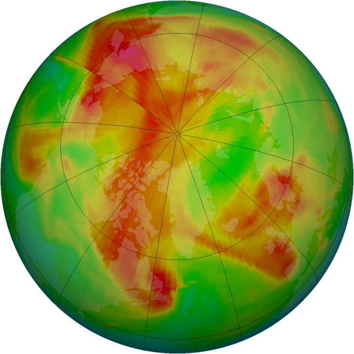 Arctic ozone map for 05 May 1985