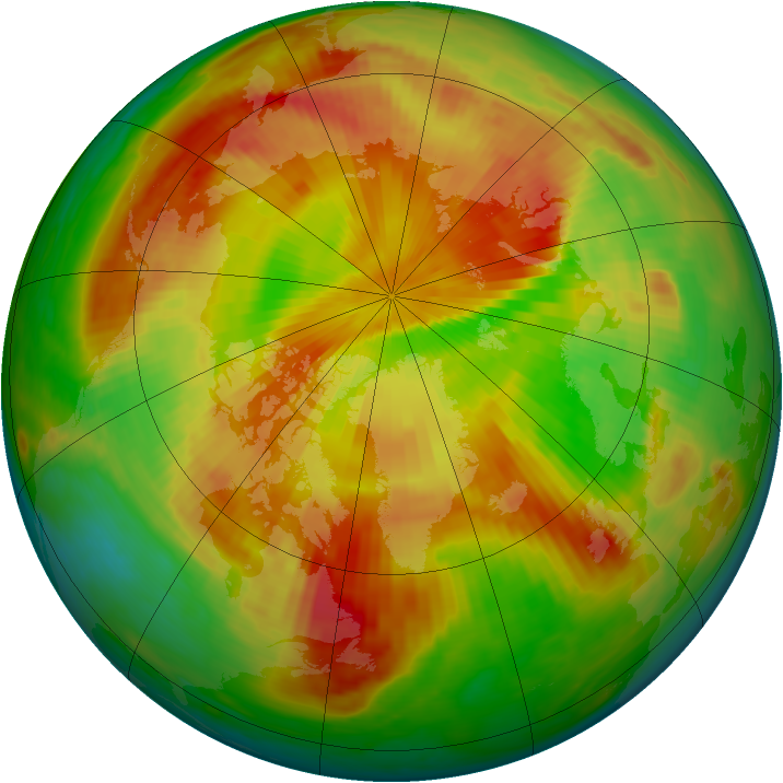 Arctic ozone map for 09 May 1985