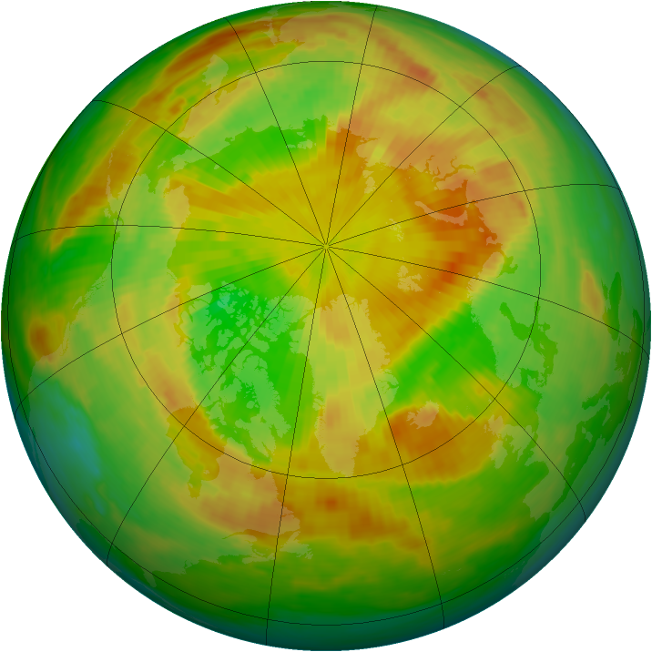Arctic ozone map for 28 May 1985