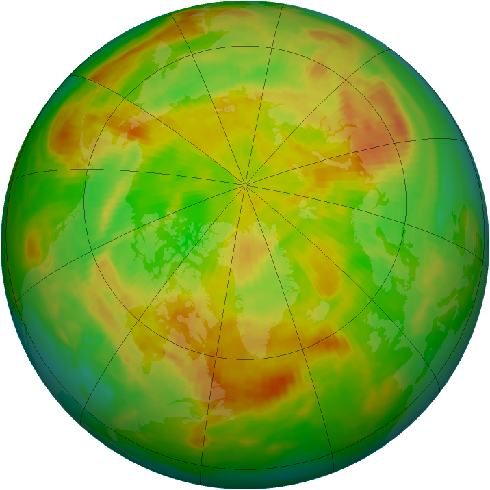 Arctic ozone map for 30 May 1985