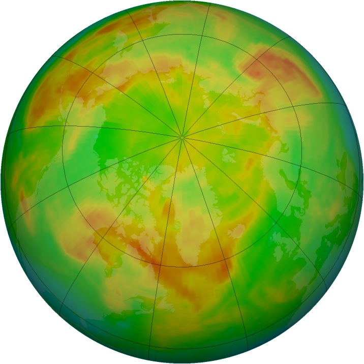 Arctic ozone map for 01 June 1985