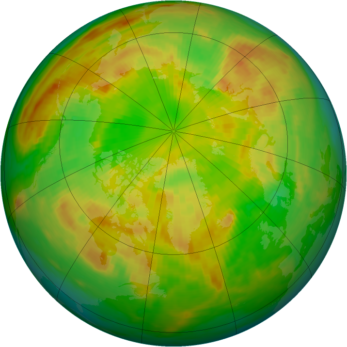 Arctic ozone map for 02 June 1985