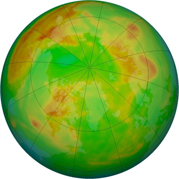 Arctic ozone map for 04 June 1985