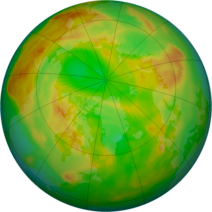 Arctic ozone map for 06 June 1985
