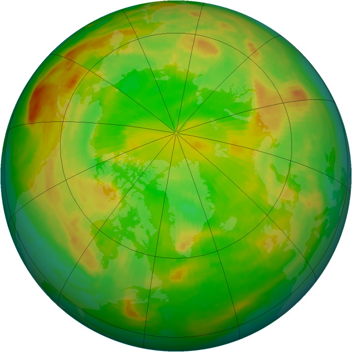 Arctic ozone map for 09 June 1985