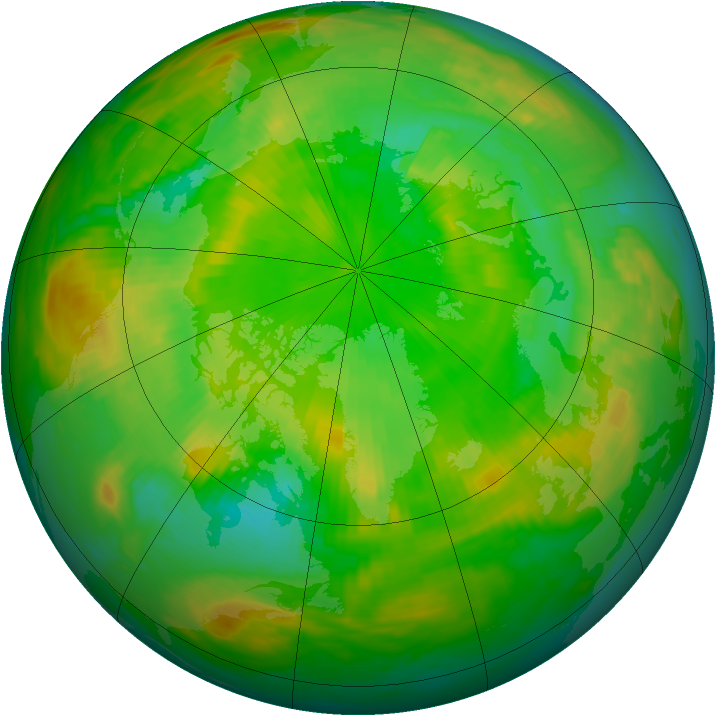 Arctic ozone map for 27 June 1985