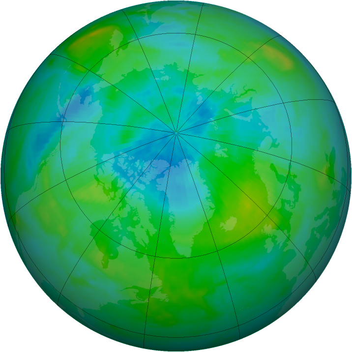 Arctic ozone map for 05 September 1985